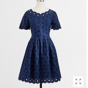 J Crew Scalloped Blue Dress 12